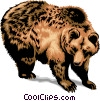 Grizzly Bear Vector Clip Art picture