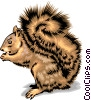 Vector Clipart picture  of a Squirrel