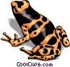Colorful frog Vector Clip Art graphic