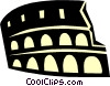 coliseum Roman Architecture Vector Clipart illustration