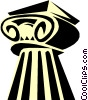 Vector Clip Art image  of a Ionic column Greek