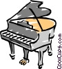 grand piano Vector Clip Art graphic
