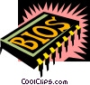 Vector Clipart illustration  of a computer chip