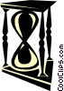 Vector Clip Art graphic  of a hourglass