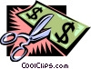 Vector Clipart graphic  of a business and finance