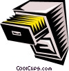 Vector Clip Art graphic  of a filling cabinet