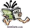 Vector Clip Art graphic  of a reading