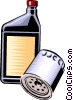 Vector Clip Art image  of a oil filter