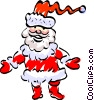 Santa Clause Vector Clipart graphic