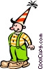 Vector Clip Art graphic  of a Funny clown