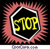 stop sign Vector Clip Art graphic