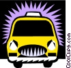Vector Clipart image  of a taxicab