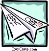 paper airplane Vector Clipart picture