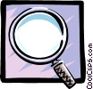 Vector Clipart picture  of a magnifying glass