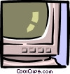 Vector Clipart graphic  of a computer monitor