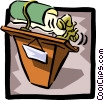 podium Vector Clipart picture