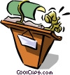 Vector Clipart graphic  of a podium