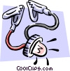Vector Clipart graphic  of a electrical tester