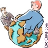 Vector Clipart illustration  of a global business