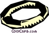 Vector Clip Art image  of a ring