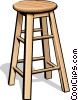 Vector Clipart graphic  of a stool
