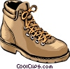 Vector Clip Art image  of a Hiking shoes