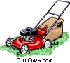 Vector Clipart graphic  of a lawn mower
