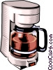 household coffee maker Vector Clipart illustration
