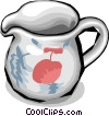 pitcher for juice or other liquids Vector Clip Art image