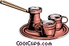 Vector Clip Art graphic  of a espresso