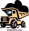 dump truck Vector Clipart graphic