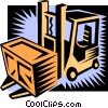 Vector Clipart picture  of a forklift