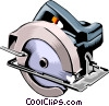 Electric circular saw Vector Clipart illustration