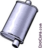 muffler Vector Clipart graphic