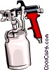 Vector Clipart picture  of a paint spray system