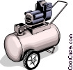 Vector Clipart picture  of an Air compressor