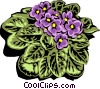 Vector Clip Art image  of a Colorful plant