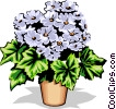 Potted flower Vector Clipart illustration