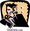 man on phone Vector Clipart picture