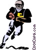Vector Clipart picture  of a football player