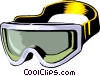 Vector Clipart graphic  of a skiing goggles