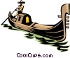 Vector Clip Art graphic  of a gondola