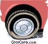 Vector Clip Art graphic  of a flat tire