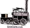 Vector Clipart picture  of a old fashioned steam engine