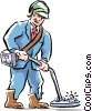 man working Vector Clipart image