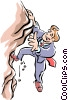 Vector Clipart illustration  of a uphill climb