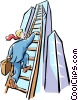 climbing to the top Vector Clip Art image