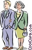 Vector Clip Art picture  of a couple