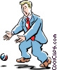 Vector Clipart graphic  of a dropping the ball