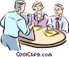 Vector Clip Art picture  of a Business people having a meeting
